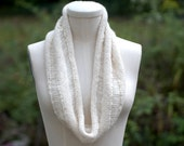 Cream Alpaca Ridge Warm Cowl Fall Accessory Ready to Ship