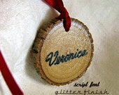 1 Wine Glass Charm Bridal Bouquet Charm Personalized Wine Bottle Tag Rehearsal Dinner Party Favors Wood Name Tags Food Labels Mason Jar Tags