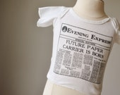 ON RESERVE~1970s Novelty Paper Tee~Newborn Size