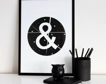 Ampersand Print // Scandinavian // Housewarming Gift // Art Print // Design Poster // Scandinavian Print / Design Gift / Scandinavian Design