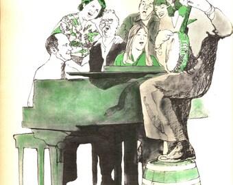 Family Sing Along - Music Print - Vintage Book Print - Music Art - Piano Banjo Music - Better Homes Garden - Family Song Book