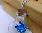 Genie in a Bottle clear acrylic charm necklace