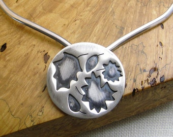 Leaves, Leaf, Hand-Sawed Sterling Silver Necklace Pendant