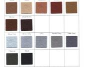 Wool Felt -  CHOOSE THREE - 8 x 12 Inch - Brown, Grey,  Black, White Felt for Crafting and Sewing