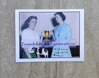 Congratulations card vintage inspired #32