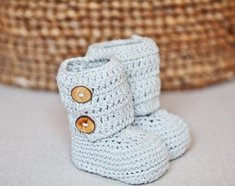 Instant download - Baby Booties Crochet PATTERN (pdf file) - Baby Ankle Boots