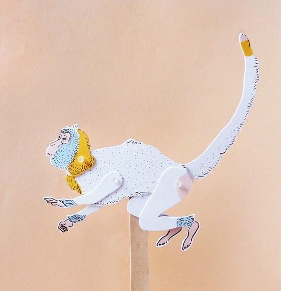 DIY Paper Puppet - MONKEY
