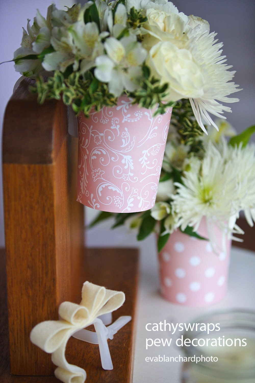 Pew Clip Flower Vase Wedding Ceremony Decorations By Cathyswraps