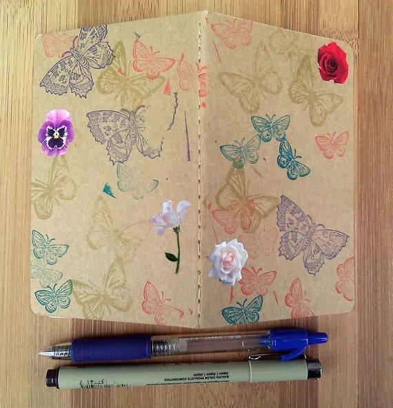 Writing Journal, Moleskine Notebook, Small, Moleskine Journal, Decorated Journal, Gift for Writer, Graduation, Flowers, Butterflies,Nature