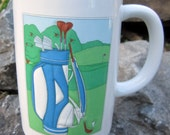 Golf Bag Coffee Cup Mug Fathers Day Gift OTAGIRI Japan Golfing Hobby