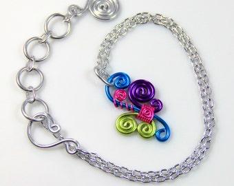 Spiral Burst Pendant Necklace