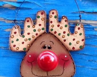 Big Nose Reindeer Ornament