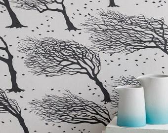 Northeasterly Wallpaper in Twilight - 10m x 52cm roll