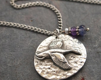 Flying Duck and Gemstone Necklace