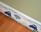 Draft Stopper cover - Cars, Turcks, Retro Rides Felix / Natural -  Draughty excluder - can customize