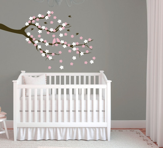 Cherry Blossom Tree Branch Wall Decal by Designedbeginnings