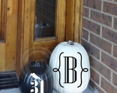 Halloween Monogram with Crow Pumpkin 2 piece set vinyl lettering wall decal sticker home decor