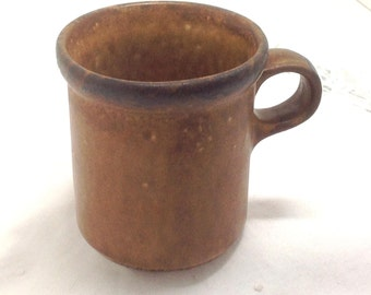 McCoy Brown Canyon Mesa Stoneware Cup or Mug Made in USA #1412 Vintage Mid Century Modern Dining Decor Pottery Drinkware - Stocking Stuffer