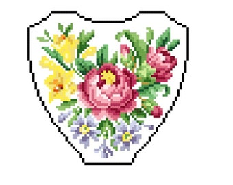 Sweet blooms. Cross stitch pattern. Instant download PDF.