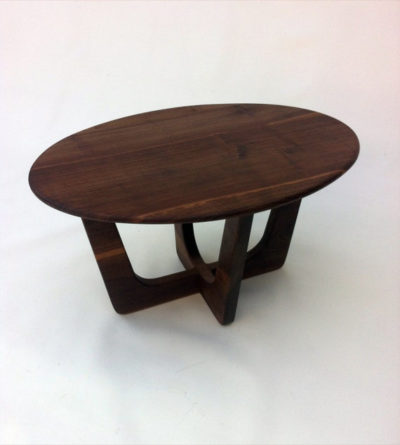 Lane Pearsall Coffee Table: Pearsall Inspired 23x32 Oval Mid Century Modern Coffee