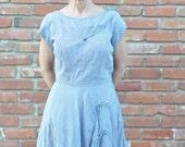 Vintage 1940's Rockabilly Day Dress Vintage Gingham Cute Summer dress