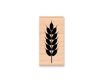 WHEAT SHEAF Rubber Stamp~Thanksgiving Fall and Autumn Stamp~Perfect for DIY Holiday Projects~Harvest Bounty Stamp~Wood Mounted Stamp (25-23)