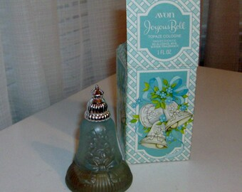 Joyous Bell Decanter with Topaze Cologne by Avon (code d)