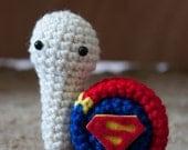 Superhero snails - Supersnail crochet amigurumi
