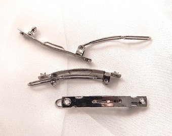 Narrow Barrette Blanks from France - Buy More and Save -