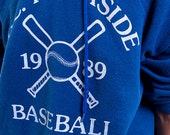 The Vintage LA Riverside 1989 Blue 50/50 Hoodie Sweatshirt
