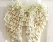Shabby Angel Wings Wall Decor Ruffled Cottage Chic Nursery Decor Wedding Decor Remembrance