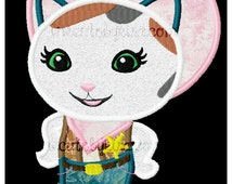Sheriff Cat Applique Machine Embroidery Design (DIGITAL ITEM)