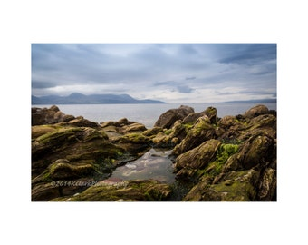 Seal Island Fine Art Photography Scottish Landscape Outlander inspired seascape coastal tidal pool romantic rocky shoreline dramatic decor