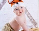 Foxy Loxy Beanie - Crochet Fox Hat - Fox Hat/ Photo Prop for Babies, Boys, Girls, Teen/Adult, Foxy Grandmas and Foxy Grandpas