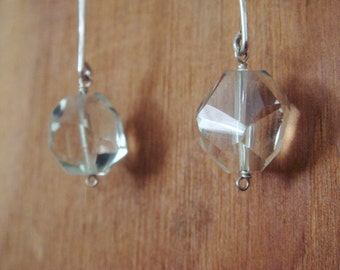 Green Amethyst Stix Earrings