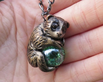 Slow Loris Necklace Pendant Polymer Clay
