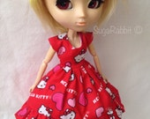Red Kitty Party Dress