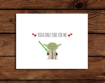 Star Wars Card Printable Yoda Only One For Me