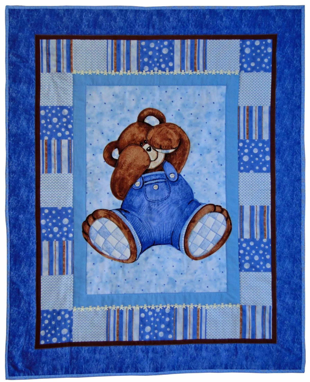 Shy Teddy Bear Quilt Babytoddler
