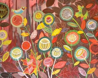 Fall Season - Original watercolours on watercolour paper - unframed - 2009