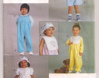 Toddler Pattern Vogue 9297 Dress and Pantaloons, Romper, Jumpsuit, Top Pattern, Hat Pattern, Bib, Vogue for Me, Sewing Pattern 1 2 3 4 Uncut