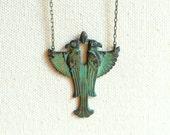 Egyptian jewelry Ra sun god mythology pagan jewelry mens necklace falcon necklace
