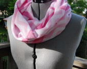 Breast Cancer Awareness Light Pink Infinity Fleece Scarf