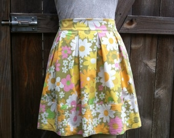 Vintage Floral Skirt OOAK Recycled