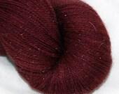 Sale--Raisin--Twinkle Cat Lace--Merino/Silk/Silver