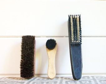 Vintage Brush Set, Shoe Brushes and Manicure Set