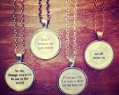 CUSTOM lyric word quote necklace