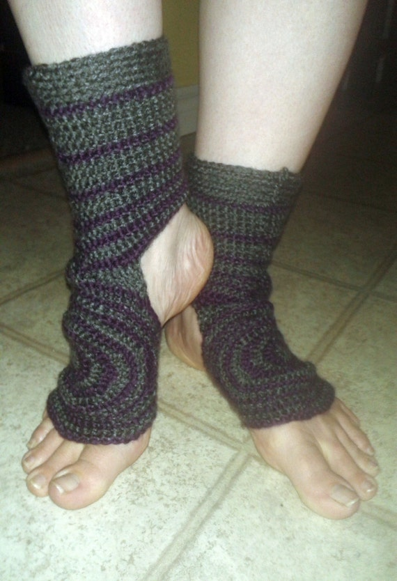 Free Crochet Pattern Toeless Socks : Yoga Around Socks Crochet Pattern PDF Toeless No Toe Athletic
