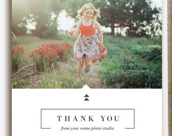 INSTANT DOWNLOAD! 50% OFF! Thank You Card Template for Photographers - Simple Modern Design from Bittersweet - Holiday Card Template