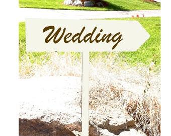 directional sign reception decor wedding sign hand painted wood wedding sign wedding decor wedding arrow rustic wedding sign